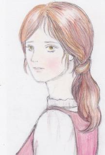 サラのイラスト原画(水彩色鉛筆)